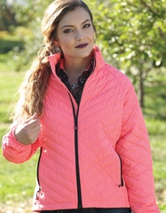 Cruel Women's Packable Down Jacket - Coral (Closeout)