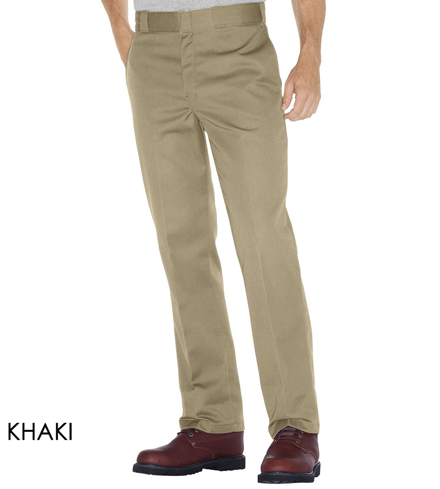 Dickies 874 Original Plain Front Twill Work Pants - Khaki or Black