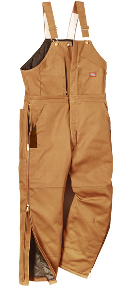 Dickies Men S Premium Insulated Bib Overalls Brown Duck