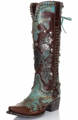 Double D Ranch by Lane Women's Cowboy Boots - Ammunition (Closeout)