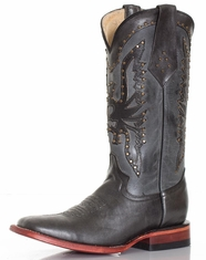 Ferrini Women's Square Toe Phoenix Boots - Black (Closeout)
