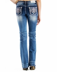 Grace In L.A.Women's Junior Fit Grace Low Rise Boot Cut Jeans - Medium Wash