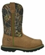 John Deere Mens Wellington Steel Toe Work Boots - Tan/Camo