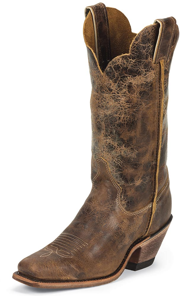 Cool Justin AQHA Full Quill Ostrich Cowboy Boots - Square Toe ...