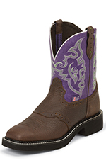 Justin Gypsy Womens Copper Kettle Buffalo Cowboy Boots (Closeout)