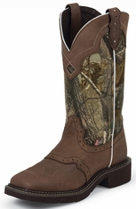 Justin Gypsy Womens Square Toe Cowboy Boots - Camo/Brown (Closeout)