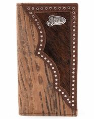 Justin Western Embossed Leather Rodeo Wallet - Oak Tan