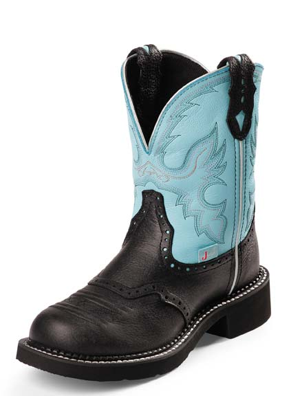 Wonderful Corral Womens Sequin Inlay Western Snip Toe Cowboy Boots - Brown/Black