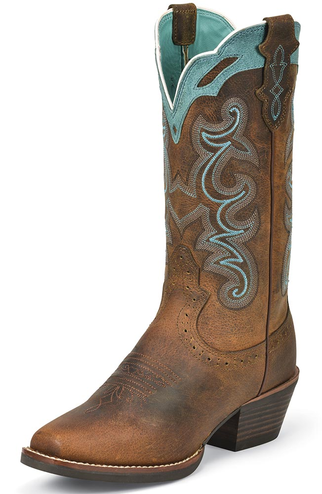 Womens Silver Collection Cowboy Boots - Rugged Tan Buffalo