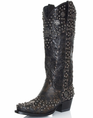 Lane Double D Ranch Women's Silver Trader Cowboy Boots - Black