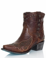 Lane Women's Starry Night Cowboy Boots - Brown (Closeout)