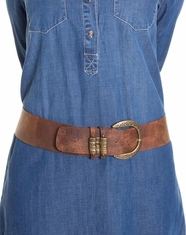 Leatherock Women's Slider Loop Belt - Distressed Brown (Closeout)