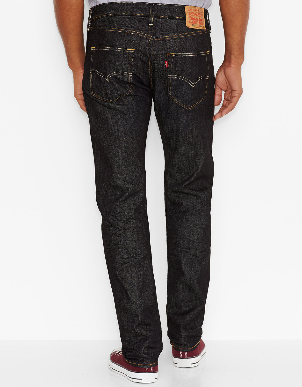 Levi s Men s 501 Original Fit Jeans - Iconic Black b9d77079e