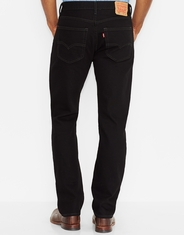 Levi's Men's 505 Regular Mid Rise Regular Fit Straight Leg Jeans - Black
