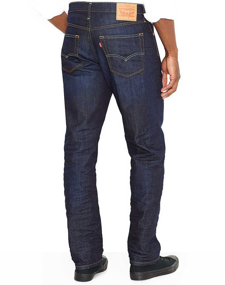 Levi's Men's 541 Athletic Taper Stretch Mid Rise Relaxed Fit Tapered Leg Jeans - The Rich