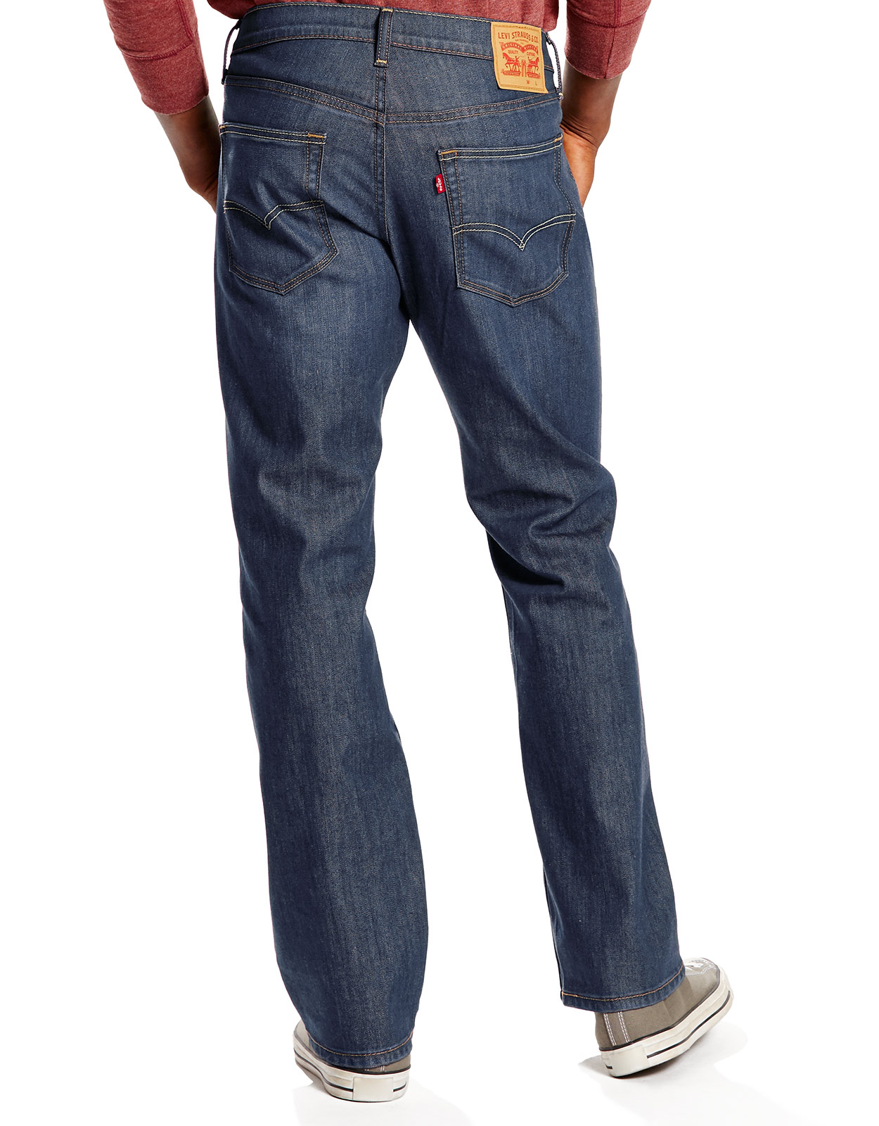 Levi's Men's 559 Relaxed Straight Stretch Low Rise Relaxed Fit Straight Leg Jeans - Steely Blue