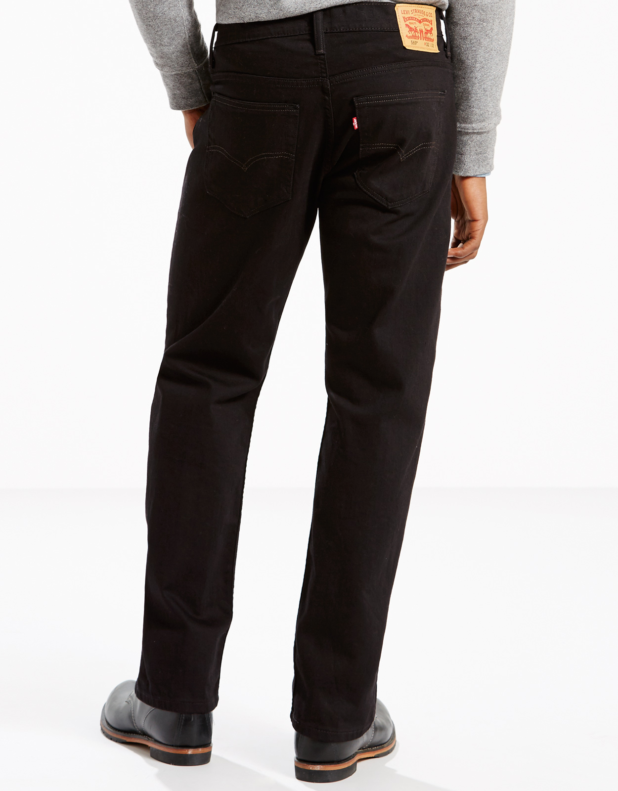 Levi's Men's 569 Loose Straight Stretch Low Rise Loose Fit Straight Leg Jeans - Black