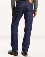 Levi's Men's Made in the USA 505 Mid Rise Regular Fit Straight Leg Jeans - Rinse