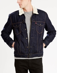 Levi's Men's Sherpa Trucker Jacket - Juniper Rinse (Closeout)