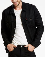 Levi's Men's Denim Trucker Jacket - Polished Black