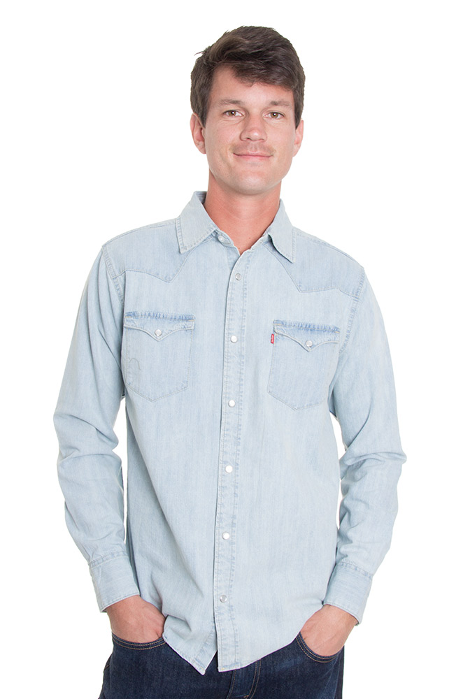 Levi 39 S Men 39 S Long Sleeve Barstow Western Snap Shirt
