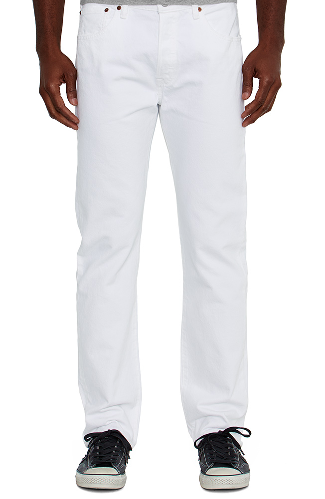 Levi's Men's 501 Original Mid Rise Regular Fit Straight Leg Jeans - Optic White