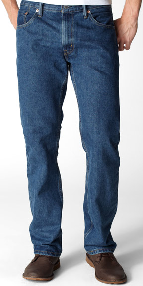 Levi's ® Men's 505 ® Regular Fit Jeans - Dark Stonewash