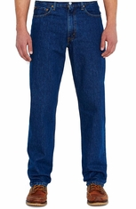 Levi's Men's 550 Relaxed Mid Rise Relaxed Fit Tapered Leg Jeans - Dark Stonewash