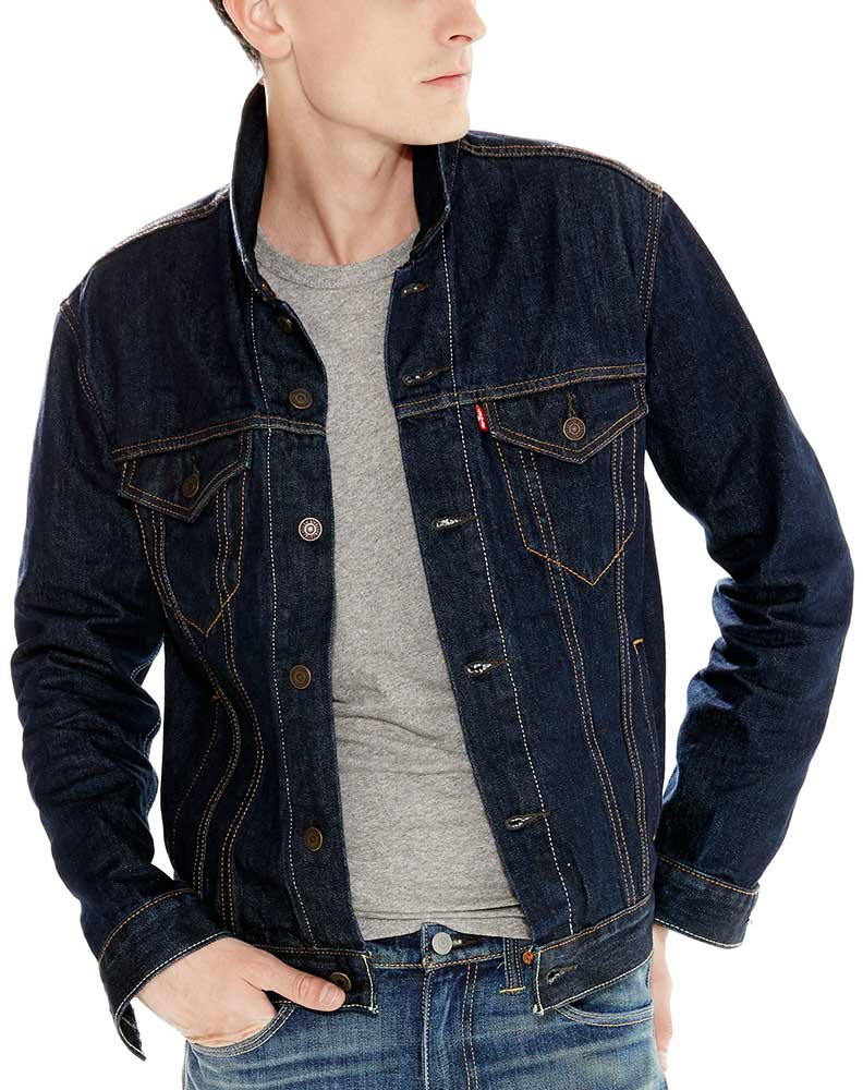 Levi's Men's Denim Trucker Jacket - Rinse