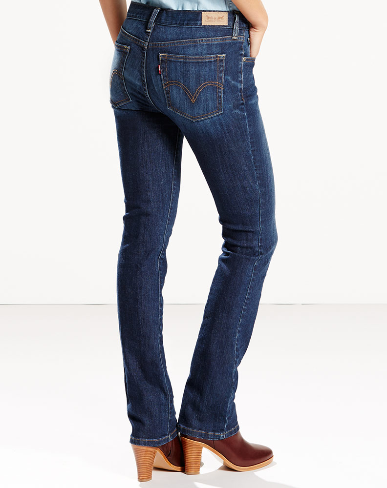 Levi's Women's 505 Straight Leg Jean - Sleek Blue