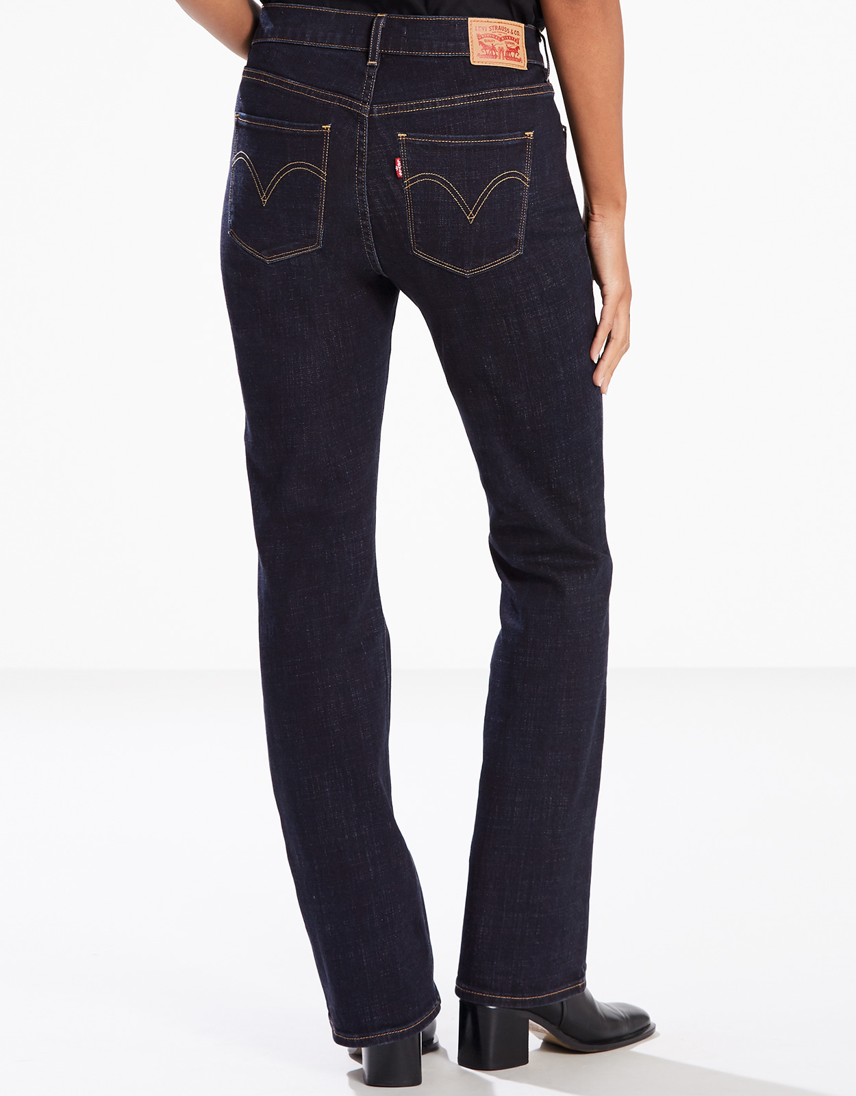 Levi's Women's Classic Bootcut Stretch Mid Rise Easy Fit Boot Cut Jeans - Island Rinse