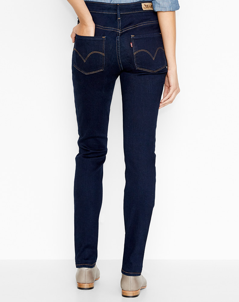 Dark Blue Skinny Jeans Womens - MX Jeans