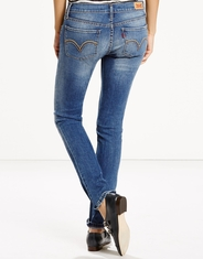 Levis Women's 524 Skinny Jeans - Fade Into Blue