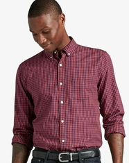 Lucky Brand Men's Long Sleeve Check Button Down Shirt - Blue (Closeout)