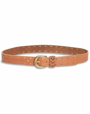 Lucky Brand Women's Beaded Keeper Belt - Tan (Closeout)