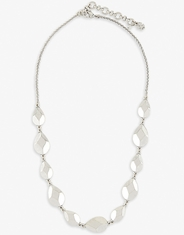 Lucky Brand Women's Geometric Collar Necklace - Silver
