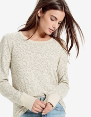 Lucky Brand Women's Long Sleeve Print Top - Neutral