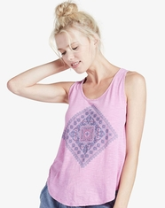 Lucky Brand Women's Sleeveless Print Tank Top - Violet (Closeout)