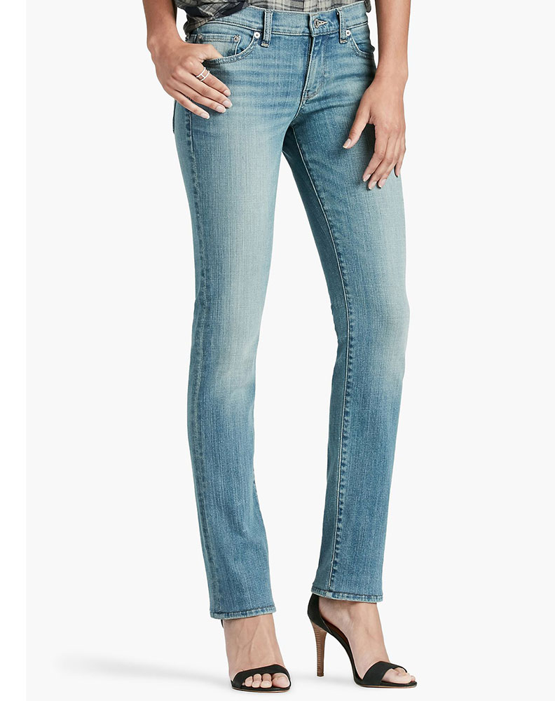 Lucky Brand Women's Sweet N Straight Mid Rise Relaxed Fit Straight Leg Jean - Reflection