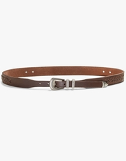 Lucky Women's Laced Concho Belt - Brown