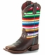 Macie Bean Kid's Super Serape Square Toe Boots - Brown