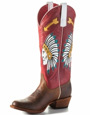 Macie Bean Women's Chief So Cute Round Toe Boots - Rodeo Red