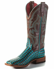Macie Bean Women's Unbeweaveable Square Toe Boots - Turquoise