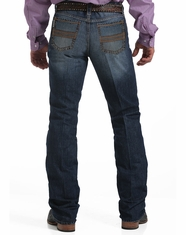 Men's Cinch Ian Mid Rise Slim Boot Cut Jeans - Dark Stonewash (Closeout)