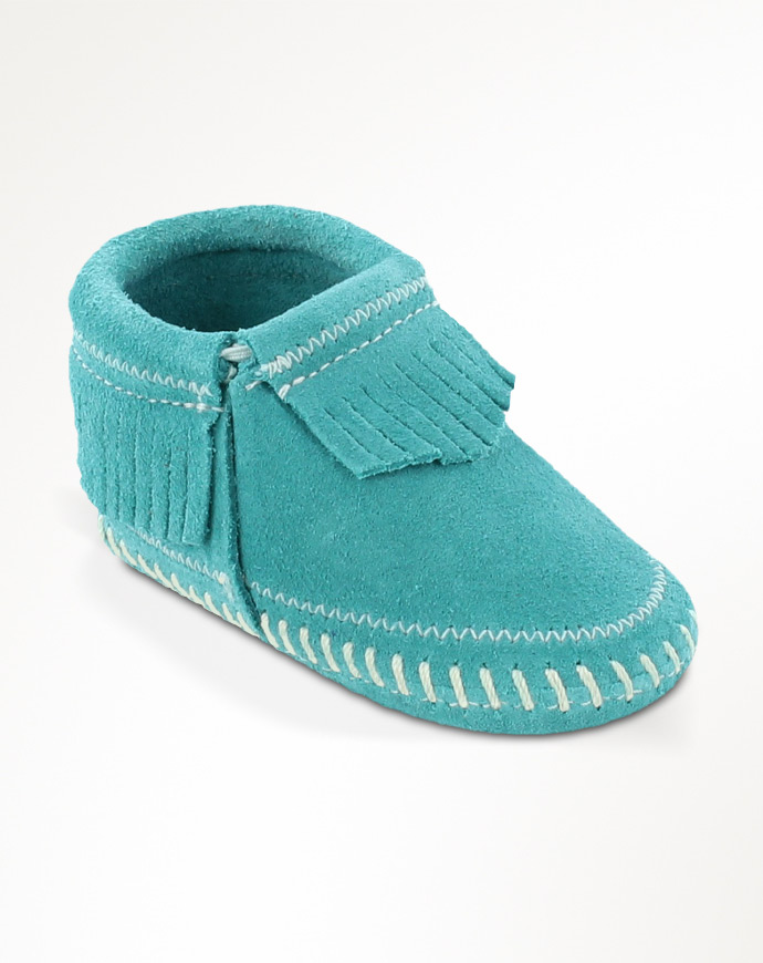 Minnetonka Moccasin Infant's Bootie Moccasin - Turquoise