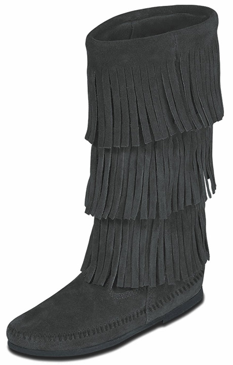 Women's Calf Hi 3-Layer Fringe Boots - 4 Colors