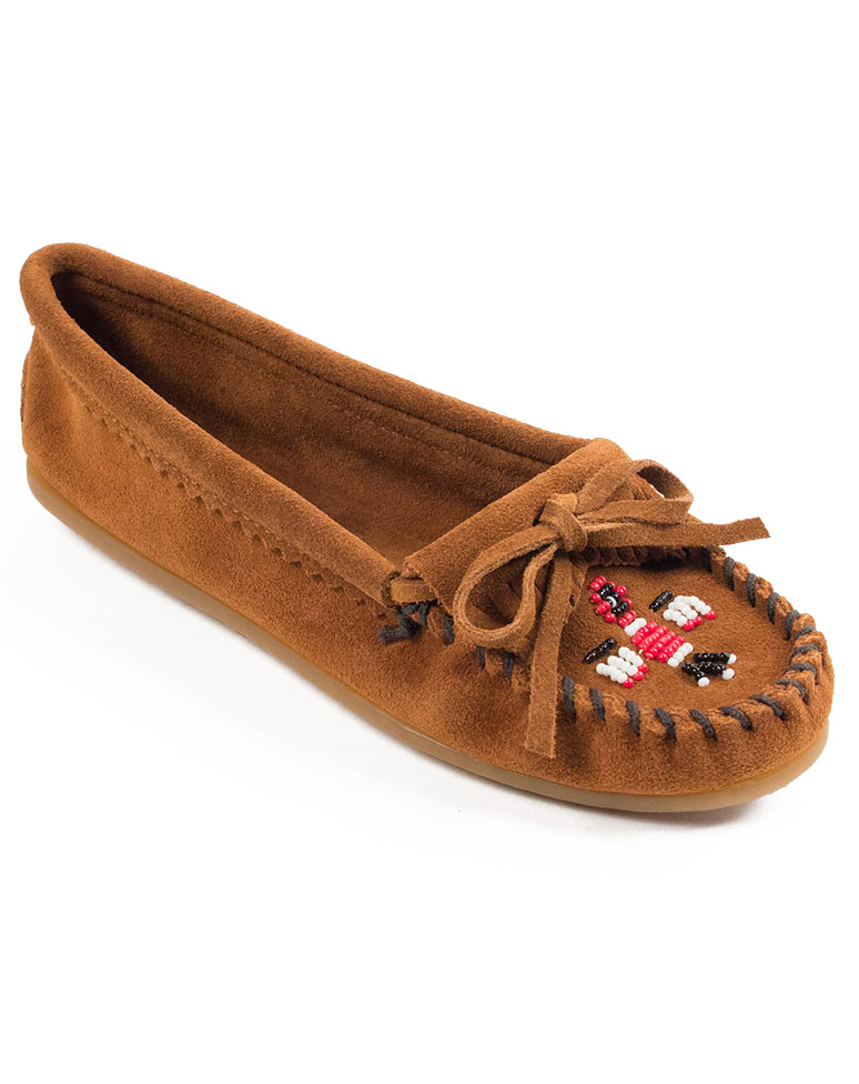 Thunderbird II Beaded Suede Moccasins pA3MR