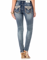 Miss Me Women's Mid Rise Skinny Jeans - Medium Wash (Closeout)