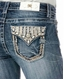 Miss Me Women's Mid Rise Skinny Jeans - Medium Wash