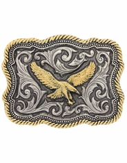Montana Silversmiths Attitude Two Tone Eagle Belt Buckle - Silver/Gold